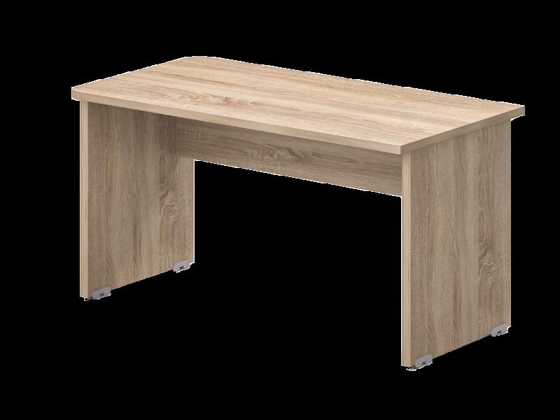 Egy oldalon kerekített íróasztal 624 mm-es mélységben, EK-62