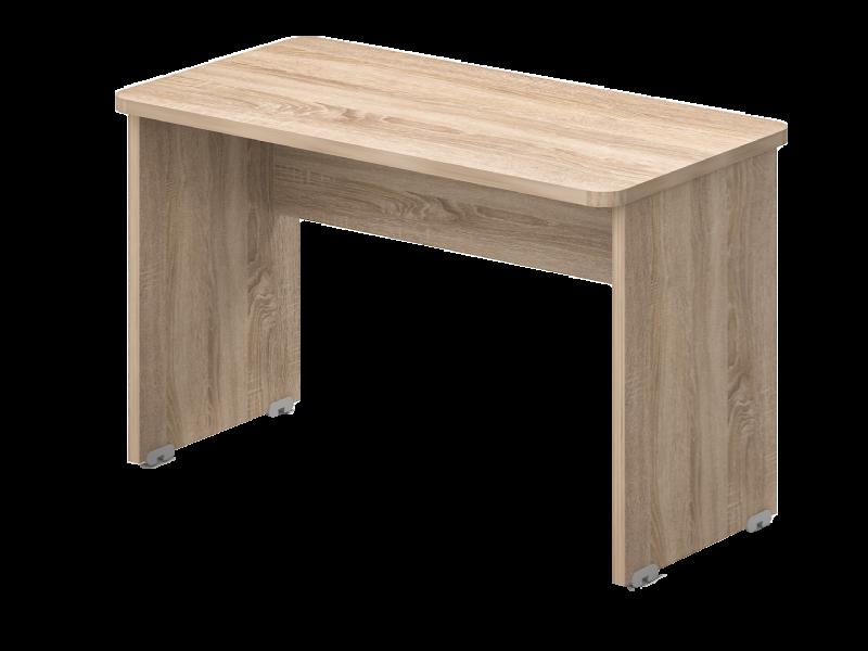 Két oldalon kerekített íróasztal 624 mm-es mélységben, KK-62