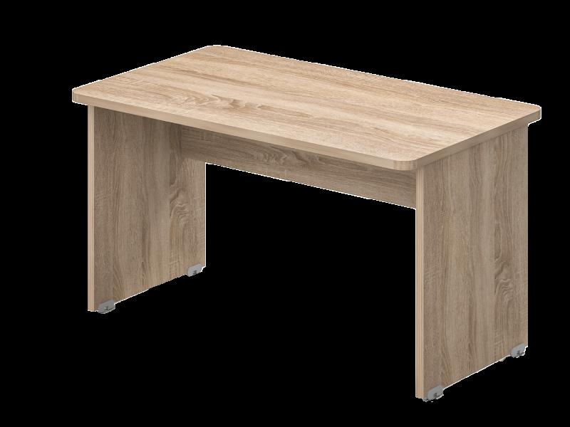 Két oldalon kerekített íróasztal 804 mm-es mélységben, KK-62 (másolat)