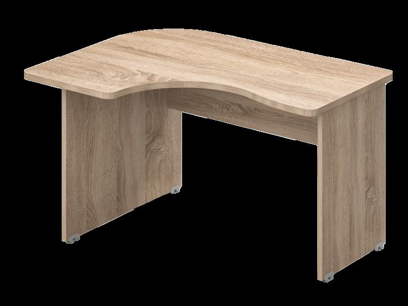Kerekített íróasztal, GE-160-J/B
