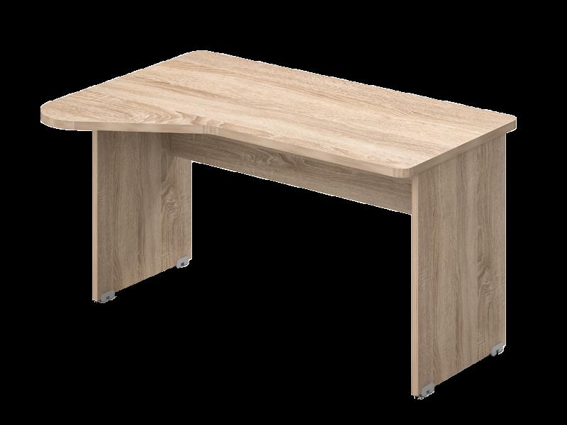 Kerekített íróasztal, GI-160/110-J/B