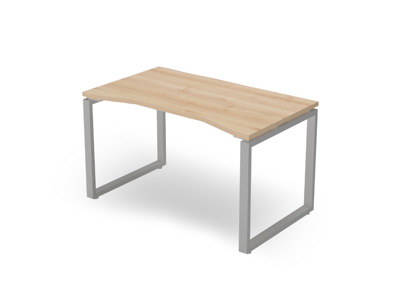 Íves íróasztal FL2 fémlábbal, IZ-FL2