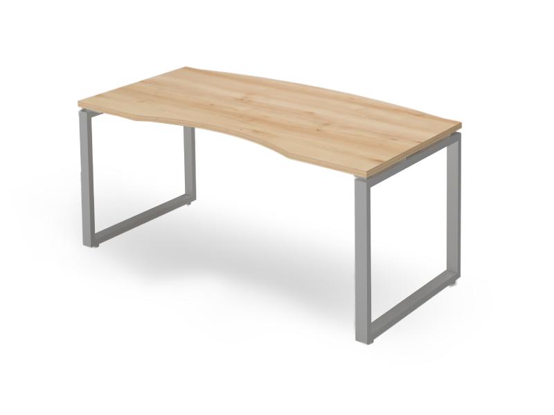 Vezetői íves íróasztal FL2 fémlábbal, VE-FL2