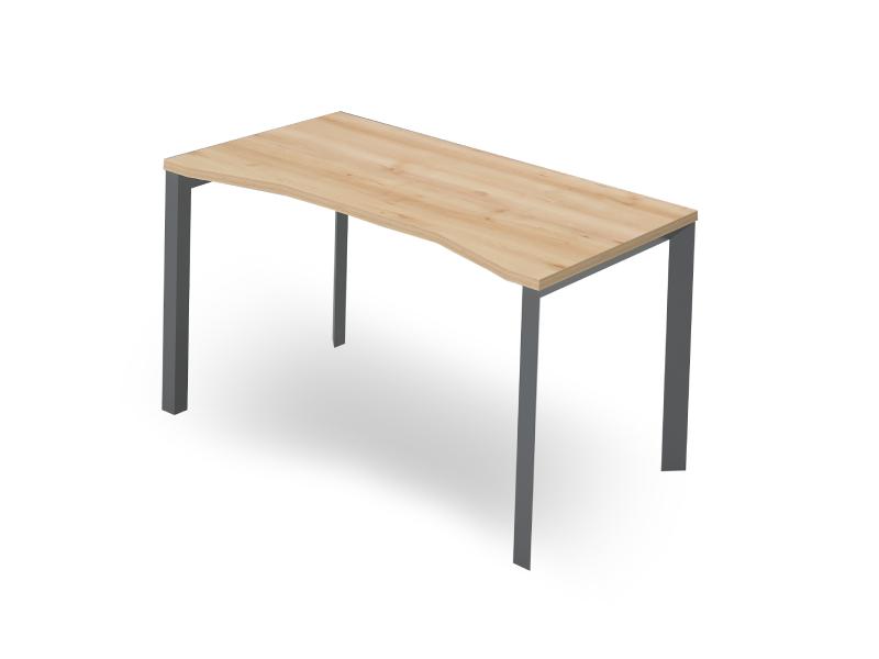 Íves íróasztal FL3 fémlábbal, IZ-FL3