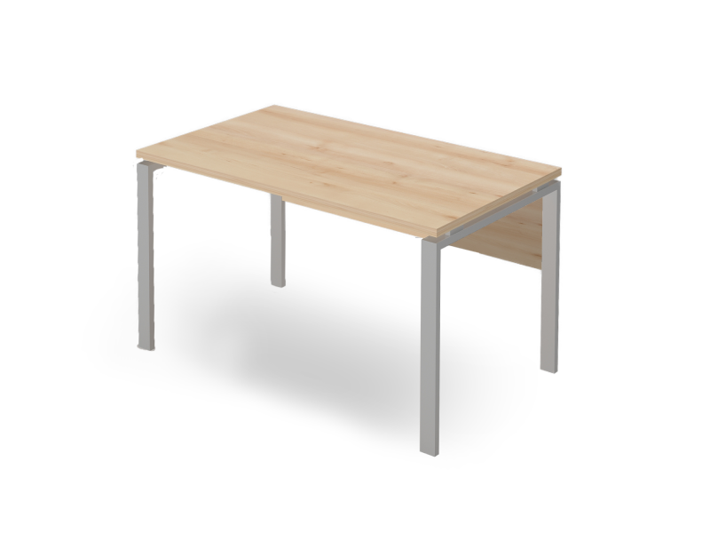 Íróasztal FL5 fémlábbal, homloklappal, IS-FL5