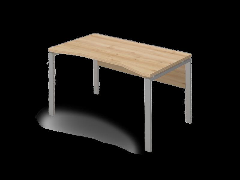 Íves íróasztal FL5 fémlábbal, homloklappal, IZ-FL5