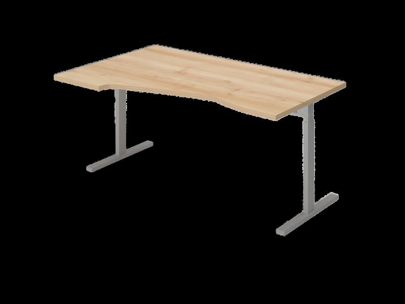 Állítható L-alakú íróasztal FL6 fémlábbal, HA-FL6