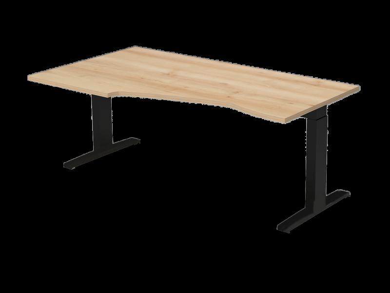 Állítható L-alakú íróasztal FL7 fémlábbal, HB-FL7