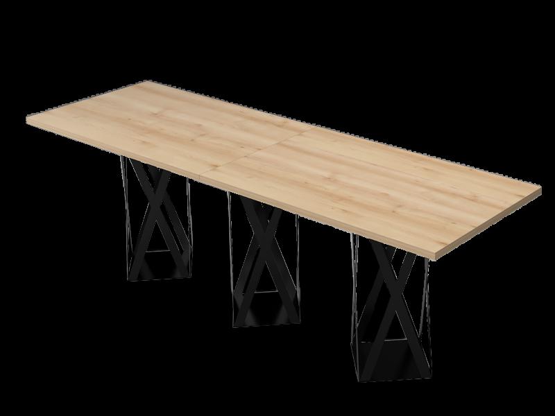 Szögletes nagy tárgyalóasztal, TC-320-FL8