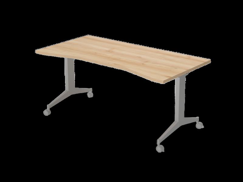 Íves íróasztal FL9 fémlábbal, IZ-FL9
