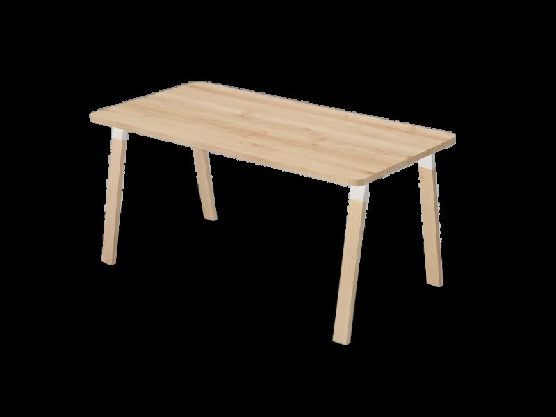 Kerekített íróasztal falábbal, KK-FA