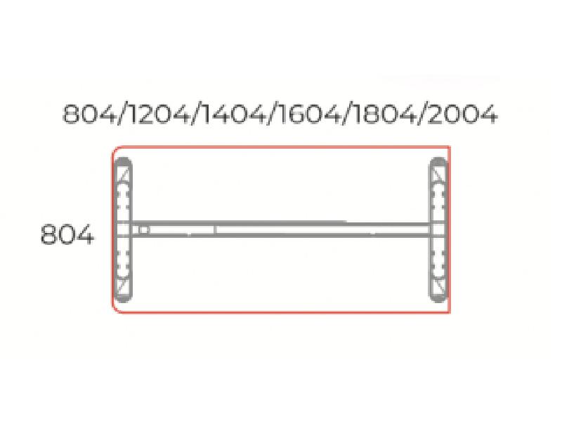 Egyoldalon kerekített íróasztal 804 mm-es mélységben, EK-80-LUX