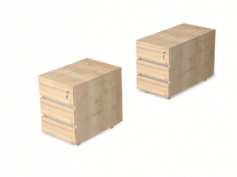 3 Fafiókos konténer asztal alá, EX-3F