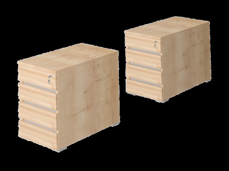 Asztalmagas 4 fafiókos konténer, EX-4F-AM