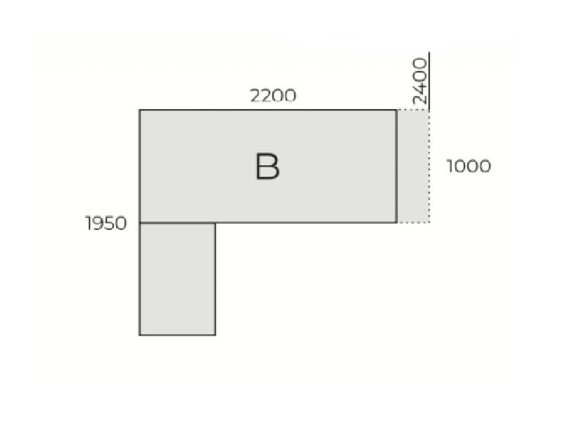 Vezetői L-alakú íróasztal,IM
