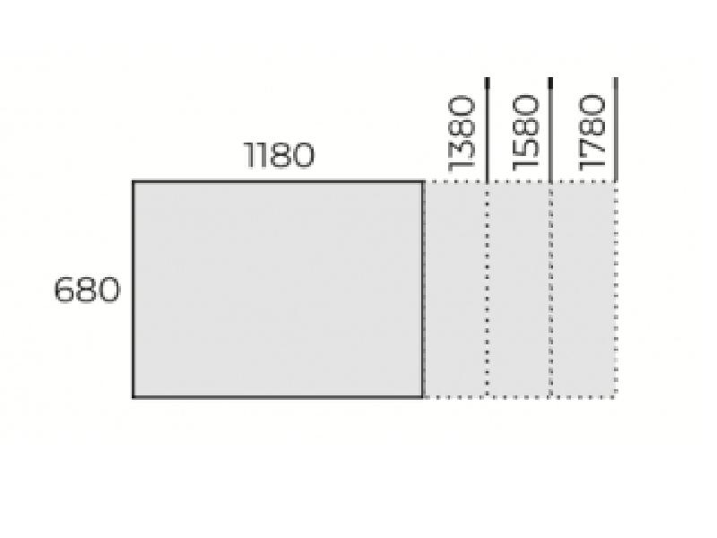 Állítható íróasztal 680mm mélységben, FL6 fémlábbal, IS-68-FL6