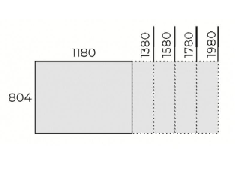 Állítható íróasztal 800mm mélységben, FL6 fémlábbal, IS-80-FL6