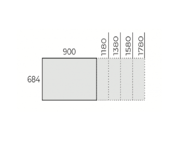 Íróasztal 680mm mélységben, IS