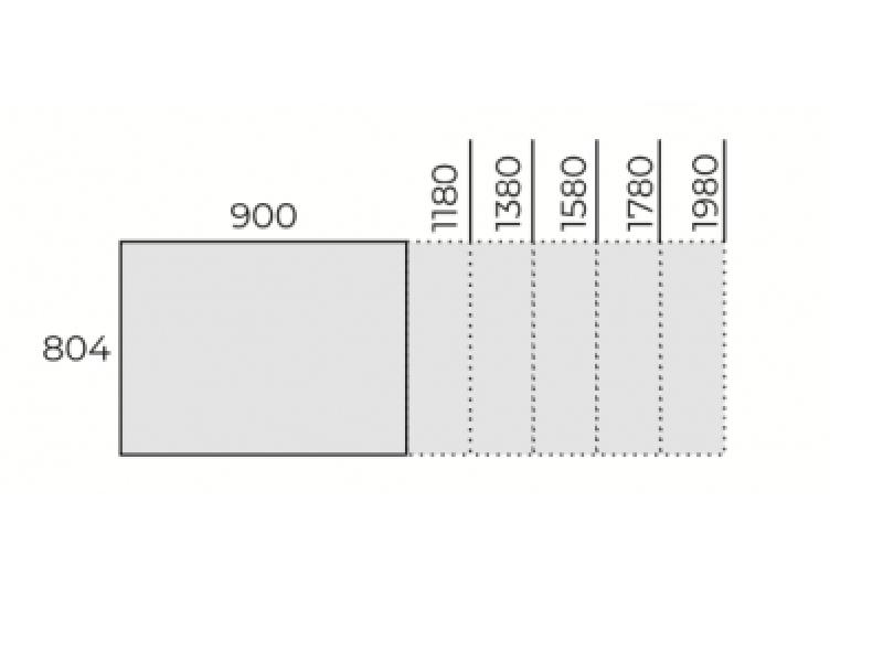 Íróasztal FL3 fémlábbal, IS-FL3