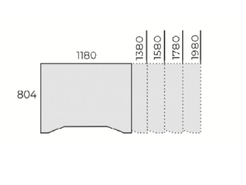 Íróasztal FL1 fémlábbal, IZ-FL1
