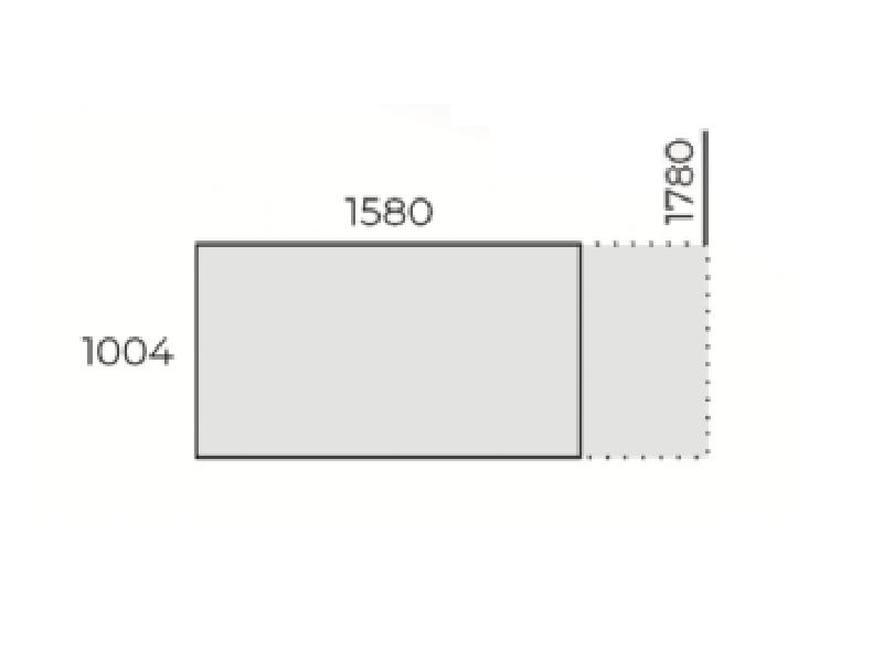Állítható szögletes tárgyalóasztal, TC-158-FL7