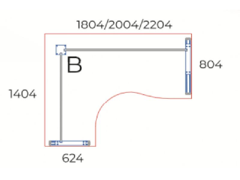 Sarkos L-alakú íróasztal, GA-102-AVA