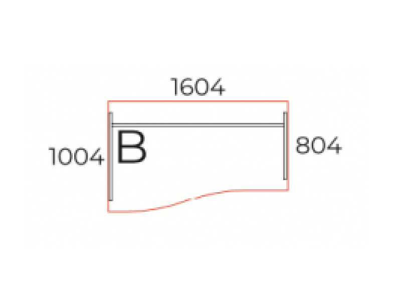 Íves íróasztal, GN-160-J/B