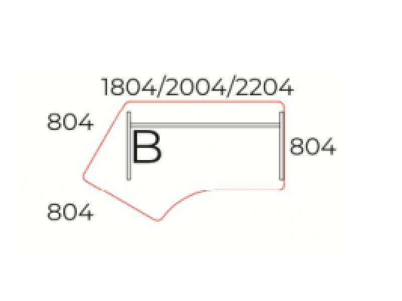 Kerekített íróasztal, GZ-180-J/B