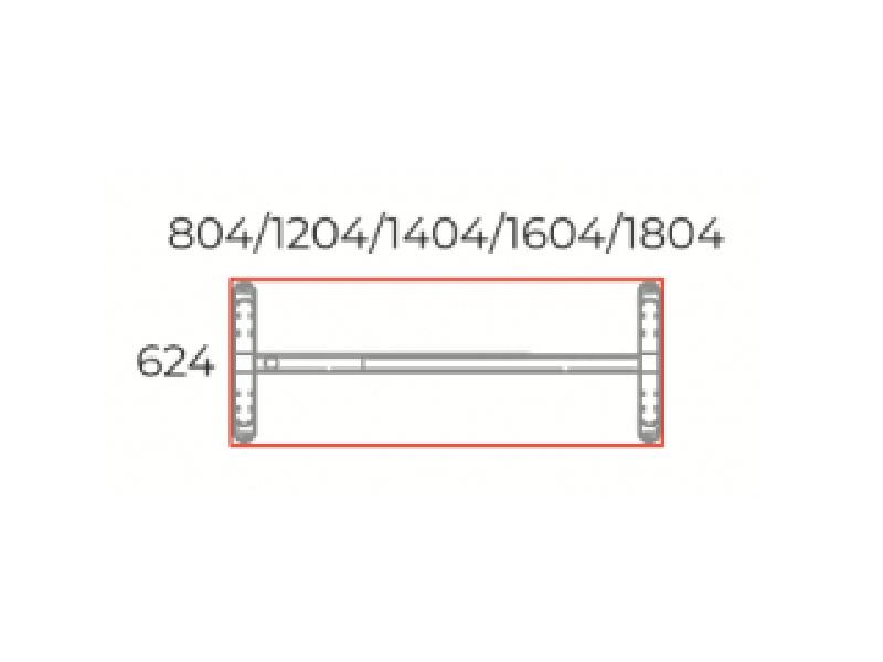 Sarkos íróasztal 624 mm-es mélységben, IS-62-LUX