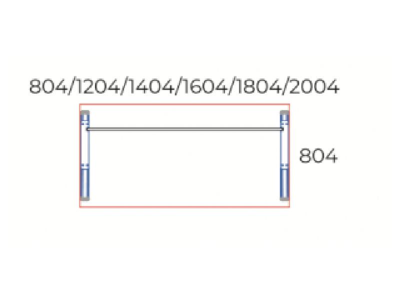 Sarkos íróasztal 804 mm mélységben, IS-80-AVA