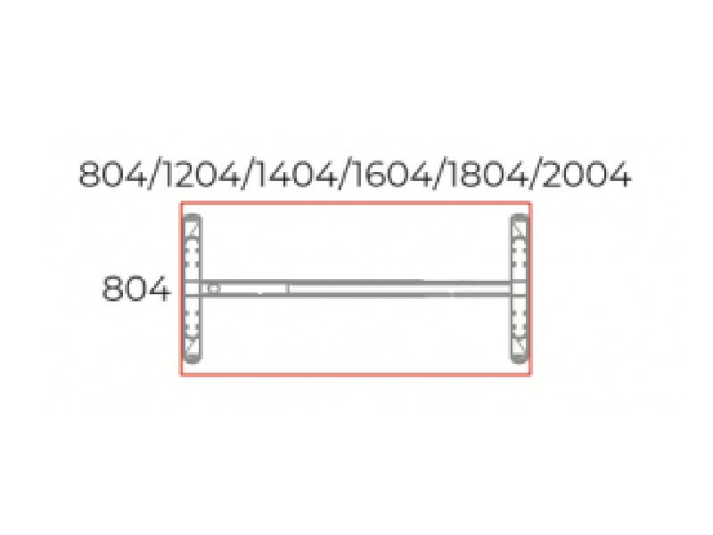 Sarkos íróasztal 804 mm-es mélységben, IS-80-LUX