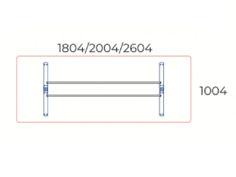 Kerekített tárgyalóasztal, TA-180/100-K