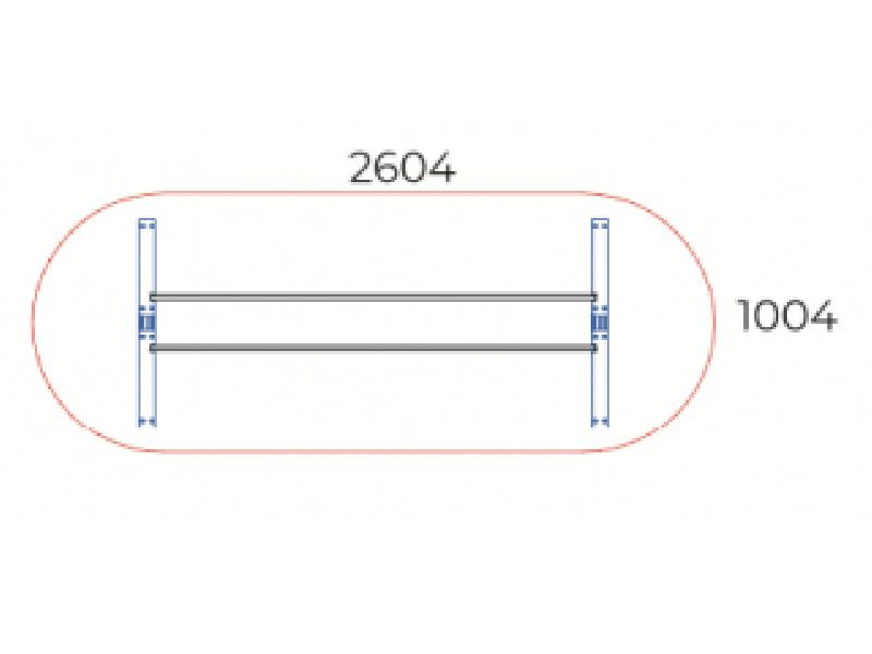 Ovális tárgyalóasztal, TA-260/100-O