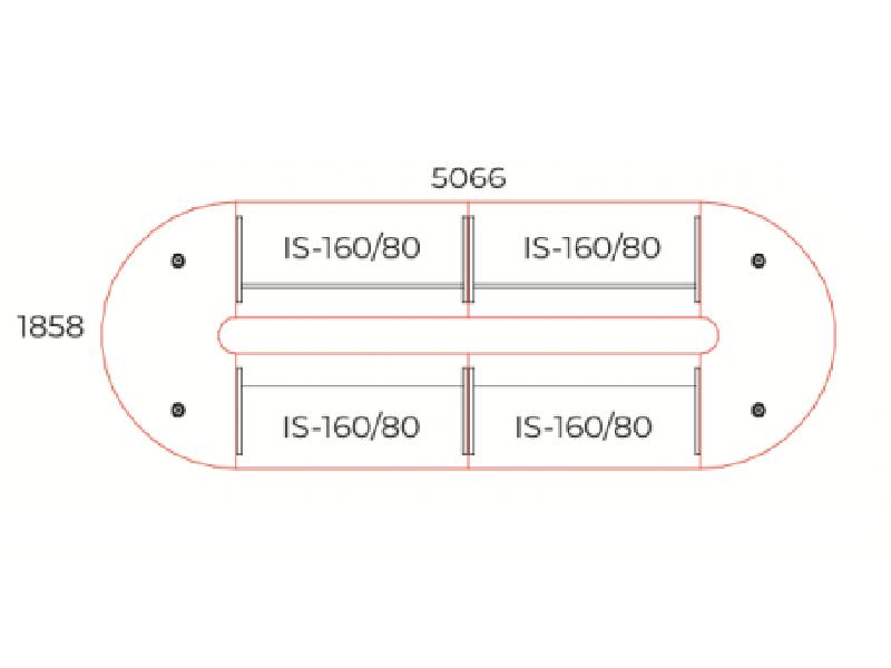 Vezetői tárgyalóasztal összeállítás, TA-506/185