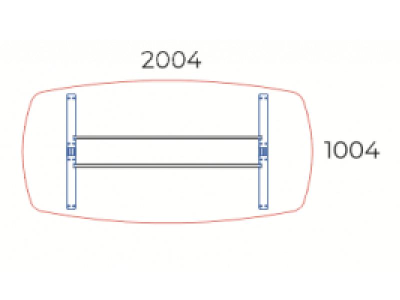 Íves tárgyalóasztal, TSZ-200/100