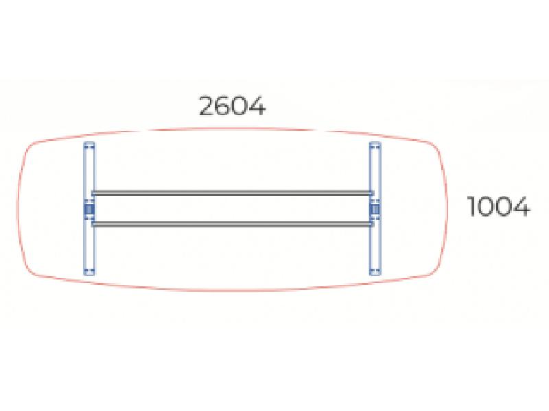 Íves tárgyalóasztal, TSZ-260/100