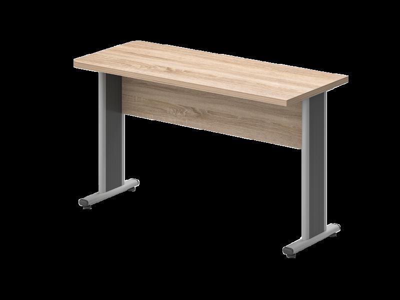 Egy oldalon lekerekített íróasztal 624 mm-es mélységben, EK-62-AVA
