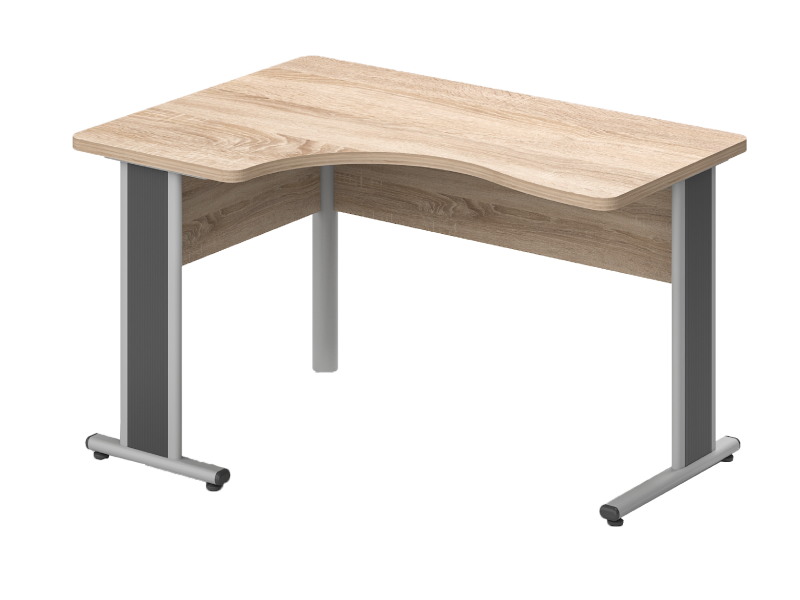 Kerekített L-alakú íróasztal, GI-160-AVA