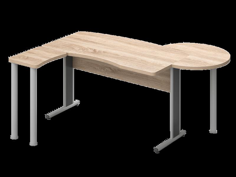 Íves vezetői íróasztal, KIV-KE-TA-AVA