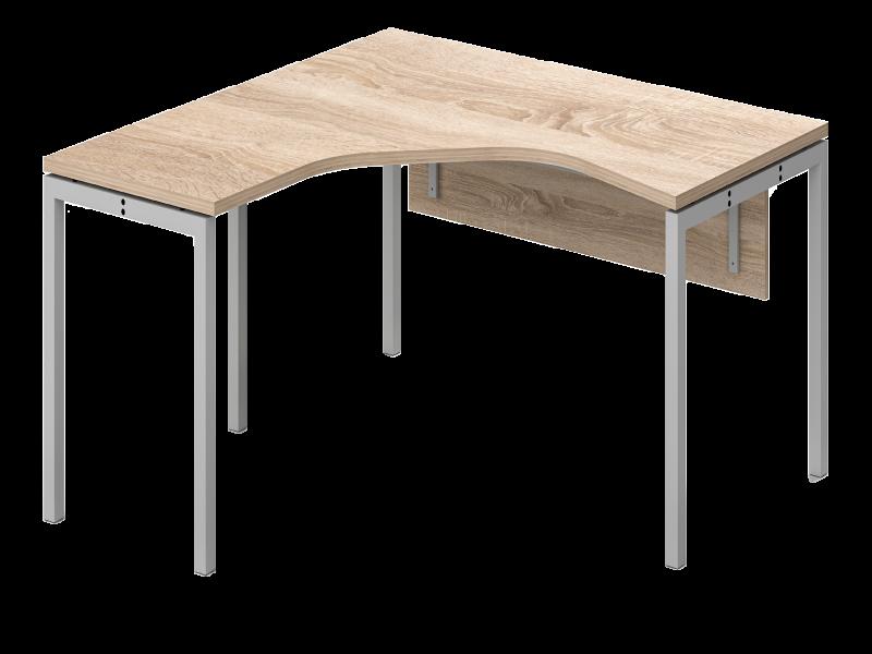 L alakú íróasztal homloklappal, GM-160-HL-COR