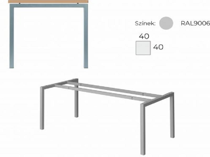 L alakú íróasztal homloklappal, GB-160-HL-COR