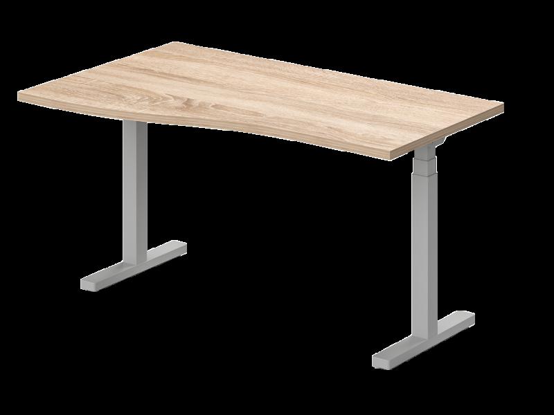 Elektromosan állítható, sarkos íróasztal, GN-160-EL