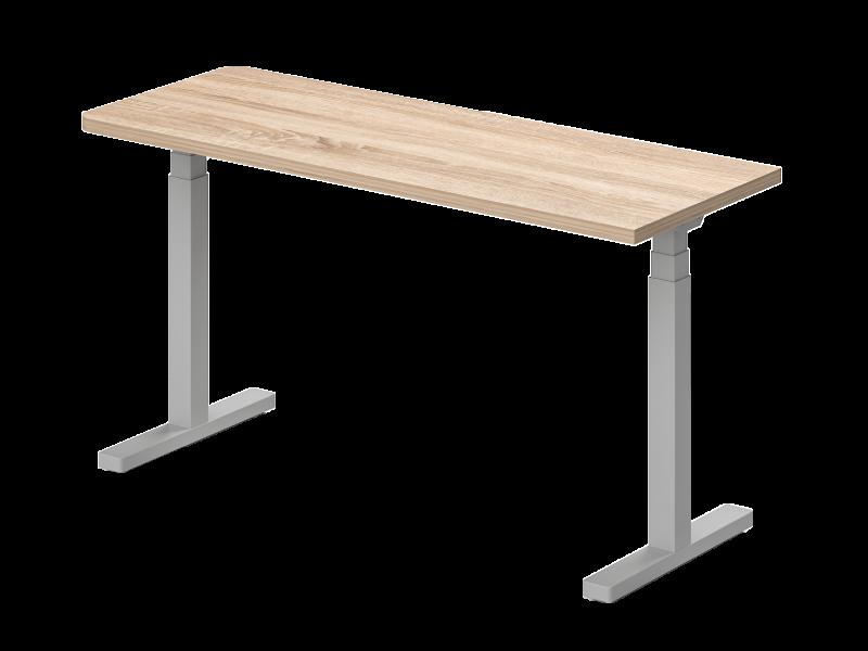 Elektromosan állítható, egyoldalon kerekített, íróasztal, EK-62-EL