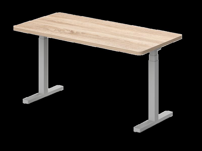 Elektromosan állítható, kétoldalon kerekített, íróasztal, KK-80-EL