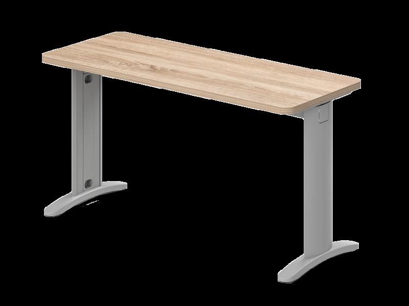 Két oldalon kerekített íróasztal 624 mm-es mélységben, KK-62-LUX