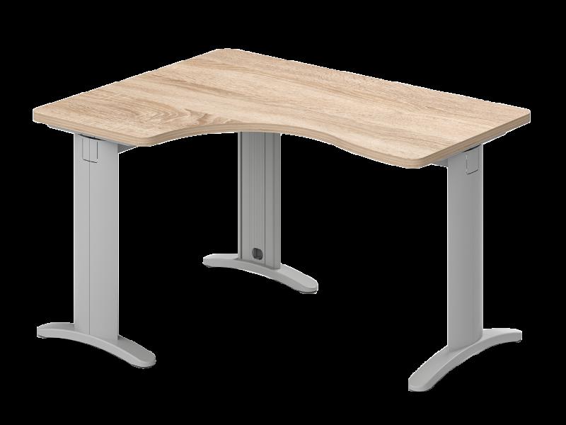 Lekerekített L-alakú íróasztal, GI-LUX