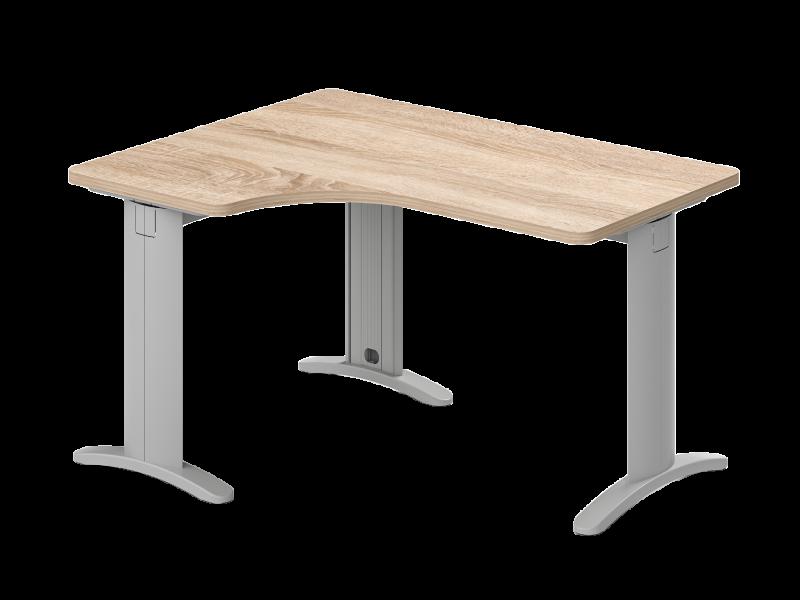 Lekerekített L-alakú íróasztal, GO-LUX