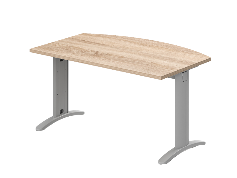 Íves vezetői íróasztal, EI-LUX
