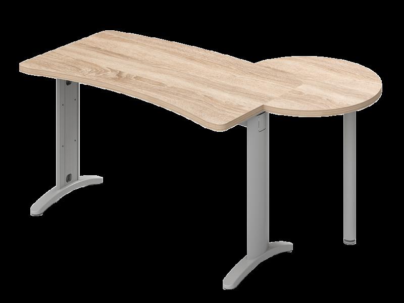 Kombinált íves vezetői íróasztal, VD-TA-LUX