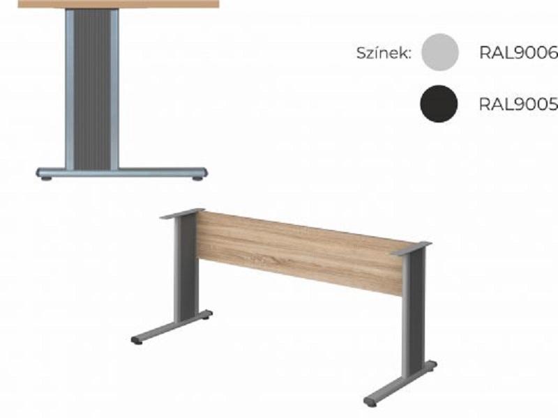 Két oldalon lekerekített íróasztal 624 mm-es mélységben, KK-62-AVA